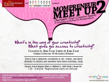 Meet Up 2: Sparks fly at the Mompreneur Creativity Workshop