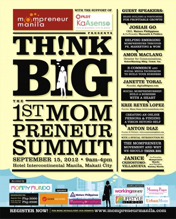 How to Register for THINK BIG! The 1st MOMPRENEUR SUMMIT