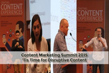 Content Marketing Summit 2015: It's Time for Disruptive Content